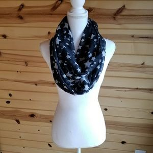 Accessories - Stars Black White Infinity Scarf